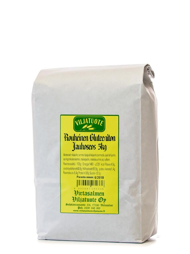 Rouheinen gluteeniton jauhoseos, 5kg
