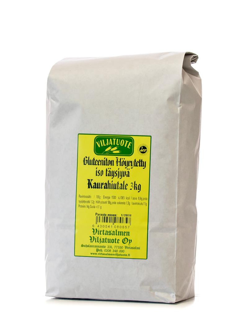 Gluteeniton kaurahiutale iso, 3kg