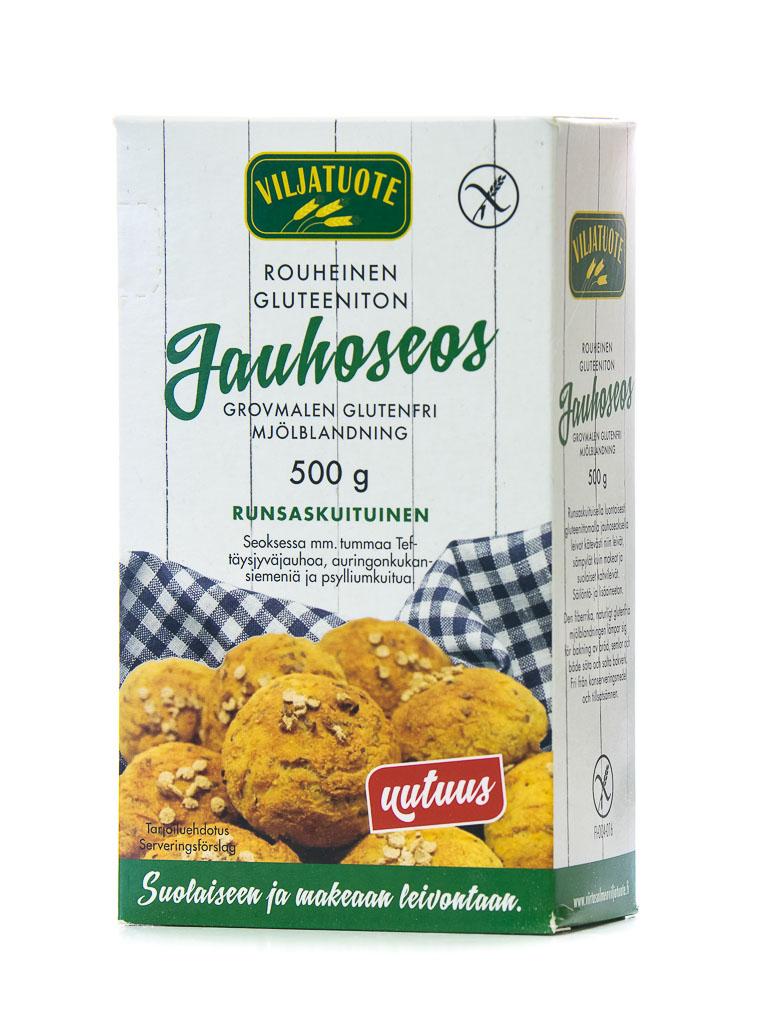 Rouheinen gluteeniton jauhoseos
